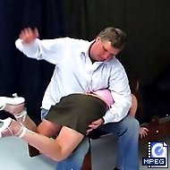 Lola gets dressed up like a slut and receives a nasty lashing from the headmaster