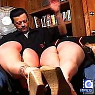 Two Sexy bitches get a hard spanking and caning for misbehaving