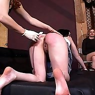 Two school brats get spanked and punished by Mistress Gemini