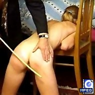 Pert little bottom cheeks welted black and blue with the cane