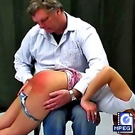 Katty has broken the rules and gets a nasty OTK spanking punishment