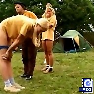 Embarrassing outdoor knickers down spankings for tearful girl guides
